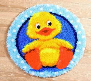 Latch-hook children and bathroom general | Vervaco | PN-0145324: NOG 1 X, ONLY 1 X (PN-0145324) | Vervaco, Tapestry Little duck