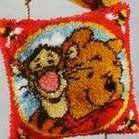 Latch-hook Disney | Vervaco | 2575/9544: NOG 1 X, ONLY 1 X (2575/9544) | Vervaco, Winnie tapestry pre-stamped latch-hook