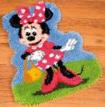 Latch-hook Disney | Vervaco | 2575/37.913: NOG 3 X, ONLY 3 X (2575/37.913) | Vervaco: Minnie Mouse, latch-hook pre-stamped