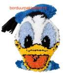 Latch-hook Disney | Vervaco | 2575/9903: NOG 2 X, ONLY 2 X | Vervaco: Donald Duck, latch-hook pre-stamped