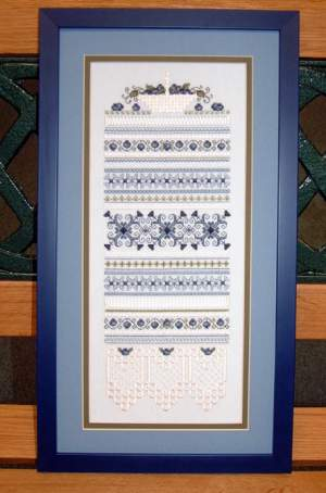 Merklappen, quilts, Amish, quacker  afbeeldingen | Paw Printings | 03-2257: NOG 1 X, ONLY 1 X | Paw Printings: Blueberry basket sampler