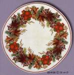 Christmas table linen counted cross stitch | Eva Rosenstand | 05-4126 met zijde (05-4126) | Eva Rosenstand, Christmas table centre: counted cross stitch: 58 cm diameter