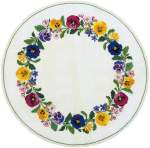 Tablecloth counted cross stitch | Eva Rosenstand | 05-4482: met zijde | Eva Rosenstand, Tablecloth flowerwreath: 61 cm