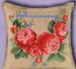 Cushions counted c.s. on  evenweaves/linens/aida | Eva Rosenstand | 42-412: NOG 1 X, ONLY 1 X (7942.0412.0000) | Eva Rosenstand, cushion with roses