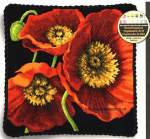 Cushions printed gobelin/tapestry/half crossstitch | Dimensions | 71-20073: gobelin kussen, wandecoratie (1642-71-20073) | Gobelin: Red poppy trio, cushion : Dimensions