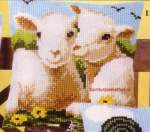 Cushions printed cross stitch | Vervaco | 1200-958: NOG 1 X, ONLY 1 X (1200/958) | Vervaco, Lambs cushion