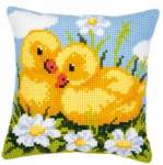 Cushions printed cross stitch | Vervaco | 1200/938: NOG 1 X, ONLY 1 X | Vervaco, Ducklings, cushion