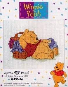 Children, counted cross stitch, 5 to 15 years, Disney also | Royal Paris | 643000054: NOG 2 X, ONLY 2 X (9886430-00054) | Royal Paris, 6.430-55, Winnie the Pooh