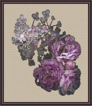 General | Polaris Design | PD-40  grège kit | Peonies & hydrangea