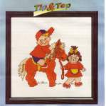Children, counted cross stitch, 5 to 15 years, Disney also | Pako | 214.470 (PA214.470) | Pako, Tip & Top with the Shetlander pony: ONLY 1 X