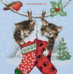 Kerst | Anchor/ Coats/ William Briggs | PCE0504 | Christmas kittens, Anchor Collection