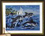 General | Vervaco | 1380-6069 (1380/6069) | Vervaco, Gobelin: Printed canvas dolphins