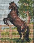 General | Collection 'd Art / Cewec/Grafitec | 3083 + DMC zijde (3083) | Collection d'Art , Gobelin, printed canvas: Horse