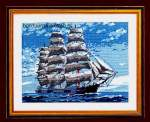 General | Vervaco | 1320-6064: KIT: NOG 1 X, ONLY 1 X (1320/6064) | Vervaco, Gobelin: Sailingship cushion