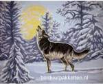 Algemeen | Collection 'd Art / Cewec/Grafitec | 10394: Los stramien (551.394) | Wolf, voorgedrukt stramien, gobelin, Cewec, Collection d'Art
